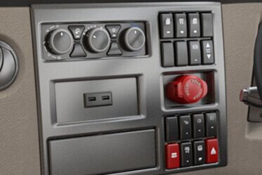 Elegant Control Panel with ergonomically positioned switches
