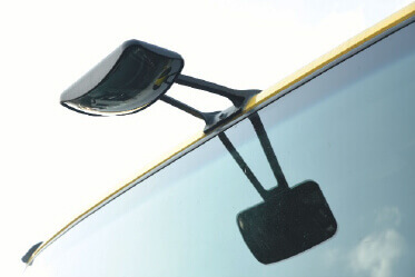 Conveniently located Blind spot mirror