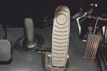 Pendant type accelerator and clutch pedal