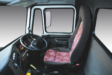 High in-cabin and utility space