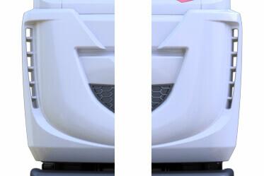 LH & RH Aero Corners for reduced aerodynamic drag and better fuel economy