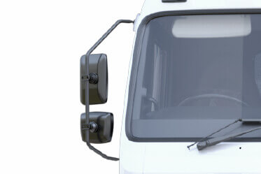 Side Close Proximity Mirror, Normal Rear View Mirror, Wide Angle Rear View Mirror