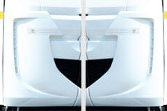 LH &RH aero corners for reduced aerodynamic drag and better fuel economy
