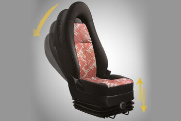 3-way adjustable Driver seat
