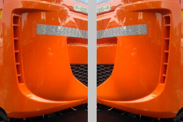 LH & RH Aero Corners for reduced aerodynamic drag and better fuel economy
