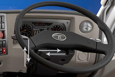 Tilt & Telescopic Steering for superior driving comfort