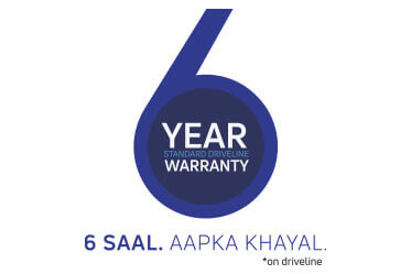 Warranty in km's