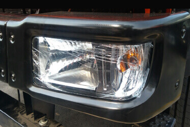 Clear Lens Wraparound Head Lamp for superior visibility coupled with chic styling