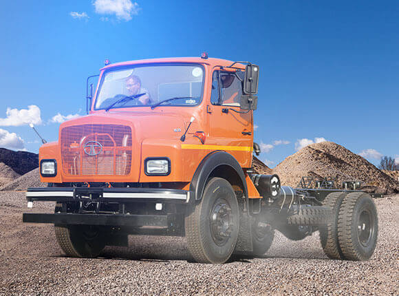 Tata SE 1613 Trucks Chassis Orange Colour